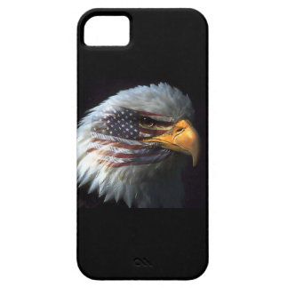 Bald Eagle on American Flag red white blue black Case For The iPhone 5