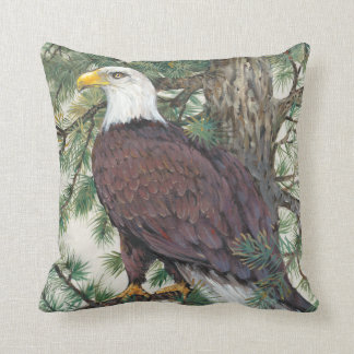 Bald Eagle on Branch Cushion