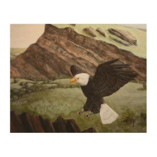 Bald Eagle On Wood Wood Wall Decor