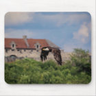 Bald Eagle passing Fort Ticonderoga Mouse Mat