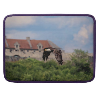 Bald Eagle passing Fort Ticonderoga Sleeve For MacBook Pro