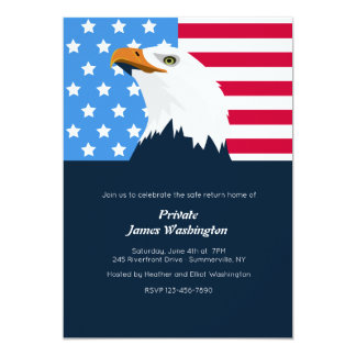 Bald Eagle Patriotic Invitation