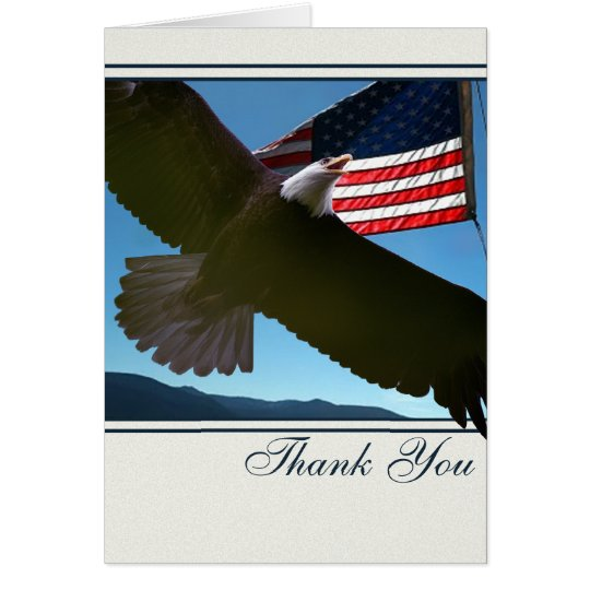 Bald Eagle Patriotic Thank You Card