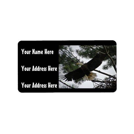 Bald Eagle Photo Label