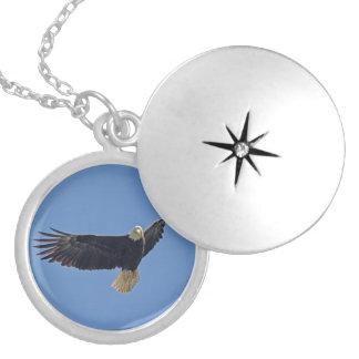 Bald Eagle Photo Locket Necklace