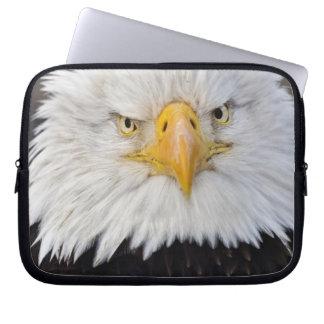 Bald Eagle Portrait, Bald Eagle in flight, Laptop Computer Sleeve