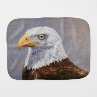 Bald Eagle Portrait Burp Cloths