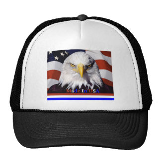 Bald Eagle Red White Blue Colors Large-A Hats