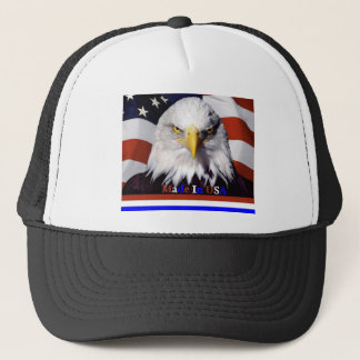 Bald Eagle Red White Blue Colors Large-A Trucker Hat
