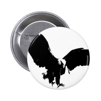 Bald Eagle Silhouette 6 Cm Round Badge