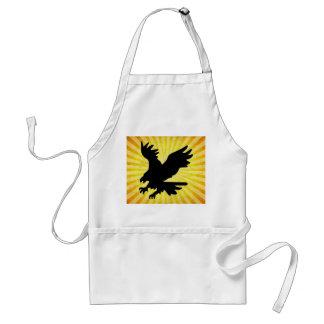 Bald Eagle Silhouette; yellow Apron