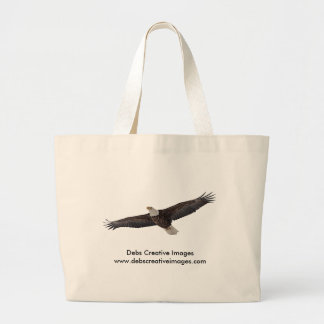 Bald Eagle Soaring Large Tote Bag