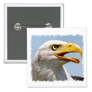 Bald Eagle Square Button