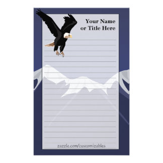 Bald Eagle Stationary Stationery Paper