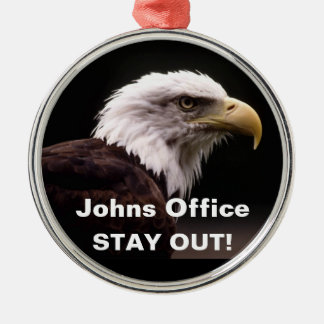 Bald Eagle Stay Out Door Hanger Ornament