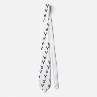 Bald Eagle Swooping Wing Spread Isolated Retro Tie