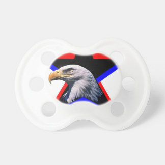 Bald eagle & the three star baby pacifier