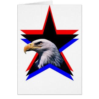 Bald eagle & the three star card
