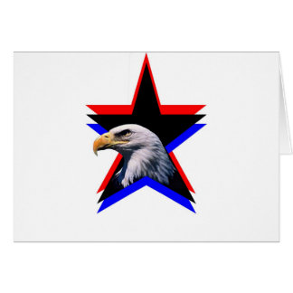 Bald eagle & the three star card