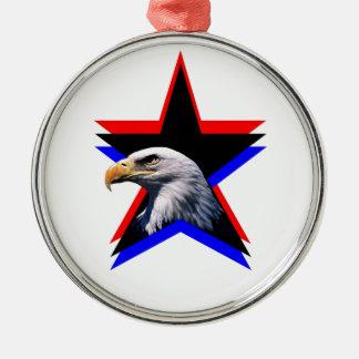Bald eagle & the three star christmas ornament