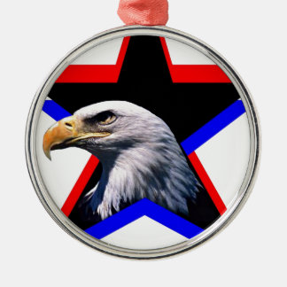 Bald eagle & the three star christmas ornament