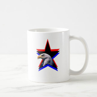Bald eagle & the three star coffee mug