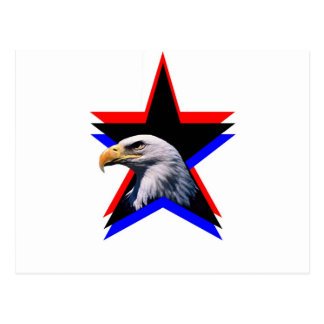 Bald eagle & the three star postcard
