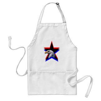 Bald eagle & the three star standard apron