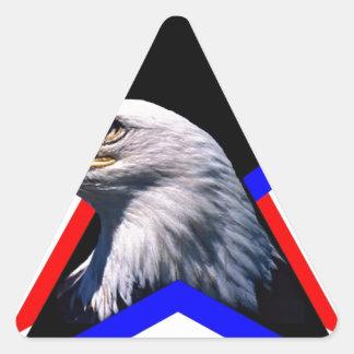 Bald eagle & the three star triangle sticker