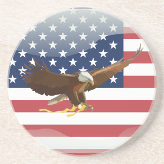 Bald eagle Usa flag Coaster
