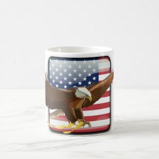 Bald eagle Usa flag Coffee Mug