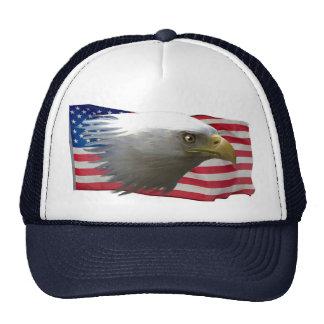 Bald Eagle & USA Flag Patriotic Cap