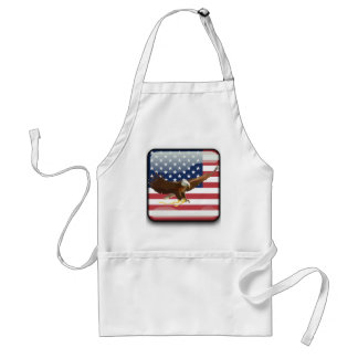 Bald eagle Usa flag Standard Apron