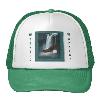 Bald Eagle & WaterFall Weekend Warrior Hat