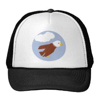 Bald Eagle Whimsical Cartoon Art Hat