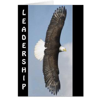 Bald Eagle Wildlife LEADERSHIP Motivational Card
