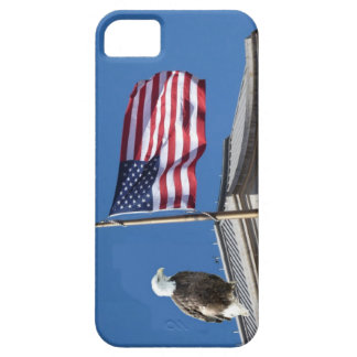Bald Eagle with American Flag iPhone 5 Cover