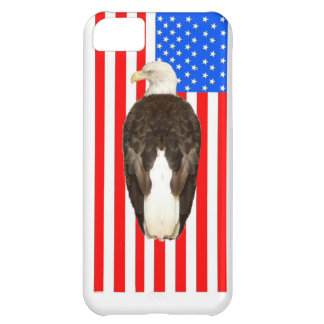 Bald Eagle With American Flag Cover For iPhone 5C