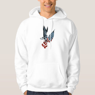 Bald Eagle with American Flag Hoodie