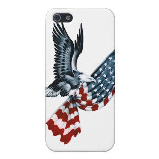 Bald Eagle with American Flag Case For iPhone 5