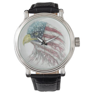 Bald Eagle With American Flag Watch