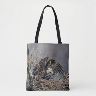 Bald Eagle with her baby Tote Bag