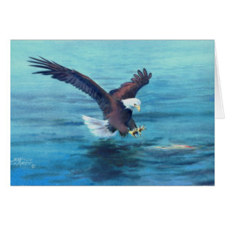 BALD EAGLE'S CATCH by SHARON SHARPE Card