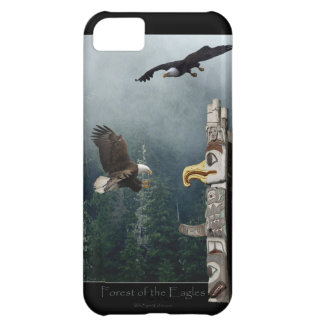 Bald Eagles & Haida Totem Pole Native Art iPhone 5C Covers