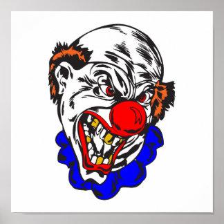bald evil clown poster