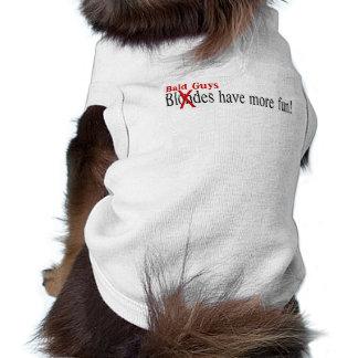 Bald Guys Have More Fun Sleeveless Dog Shirt