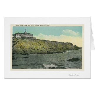Bald Head Cliff and Exterior of Cliff House # Greeting Card