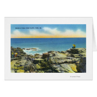 Bald Head Cliffs View of the Rocks and Surf Greeting Card