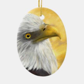 Bald Headed Eagle Ceramic Oval Decoration