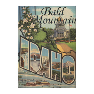 Bald Mountain, Idaho - Large Letter Scenes Canvas Print